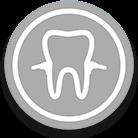 icono gris de periodoncia